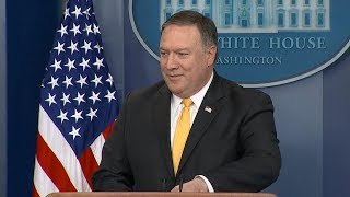 White House press briefing with Secretary of State Mike Pompeo | ABC News