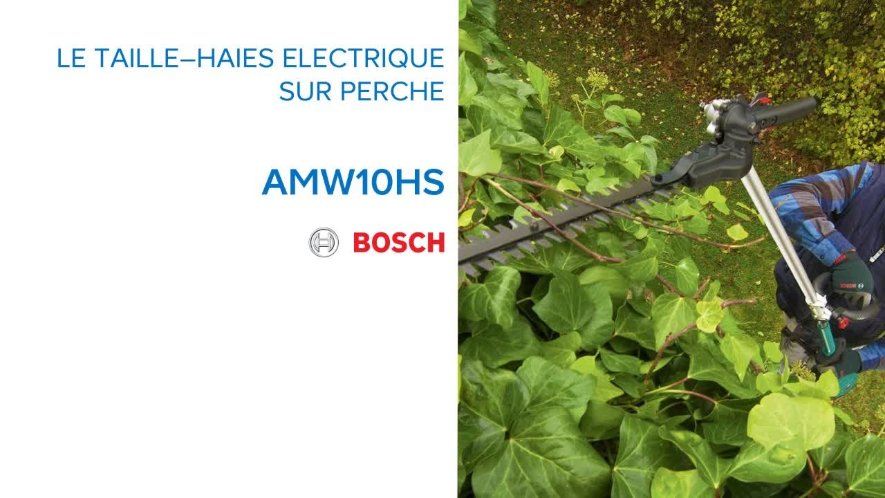 taille haies sur perche electrique amw10hs bosch 628018 castorama