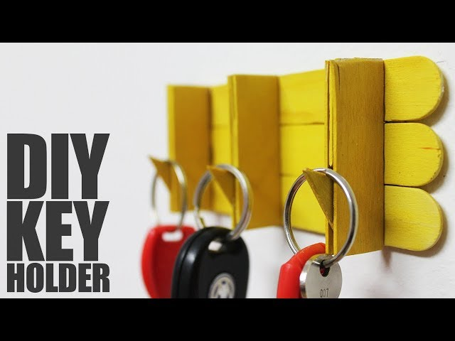 How to make key holder with popsicle sticks - DIY Key Holder