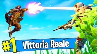 MY FIRST REAL VITTORY in solo on FORTNITE!