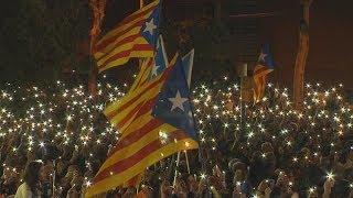 Se realiza en Barcelona una manifestación reclamando la libertad de los líderes independentistas