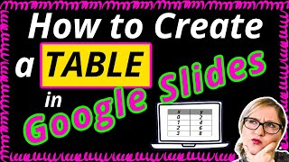 How to Create a Table in Google Slides