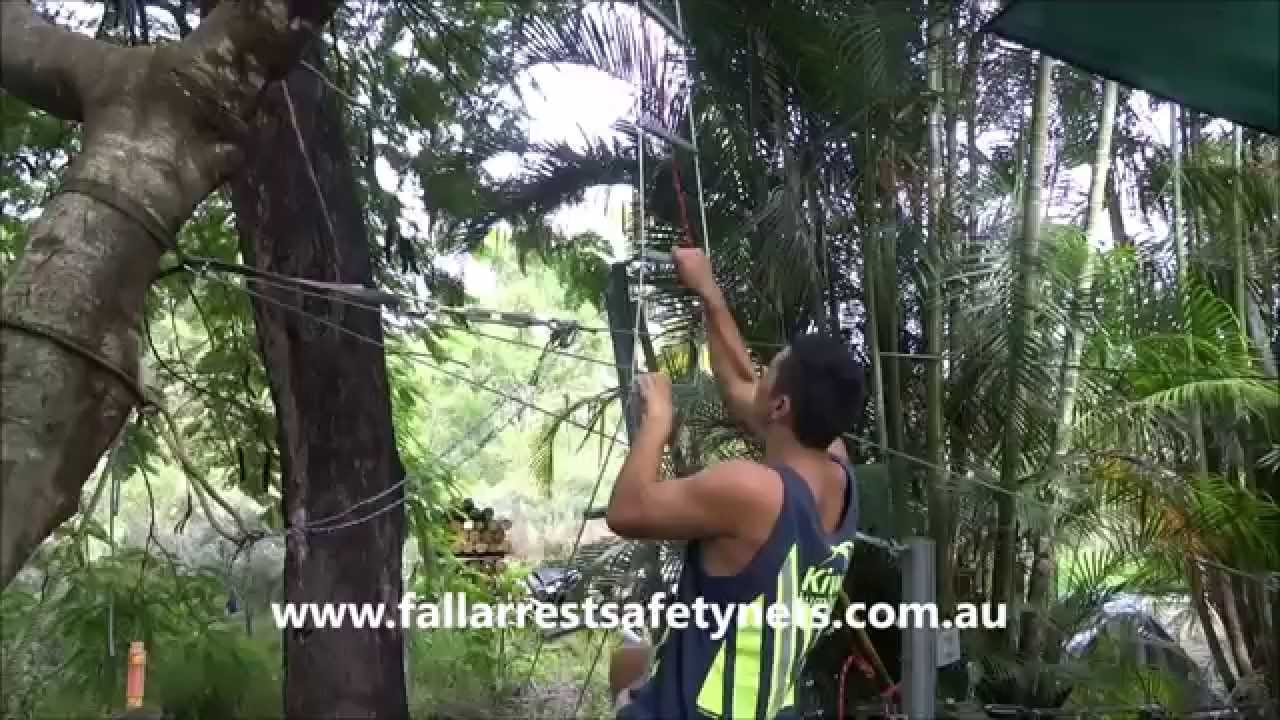 Climbing using Wire Rope Ladder - YouTube