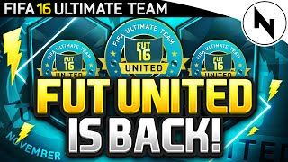FUT UNITED! - TOURNAMENTS, LIGHTNING ROUNDS!, SPECIAL PACKS & PRIZES - FIFA 16 Ultimate Team