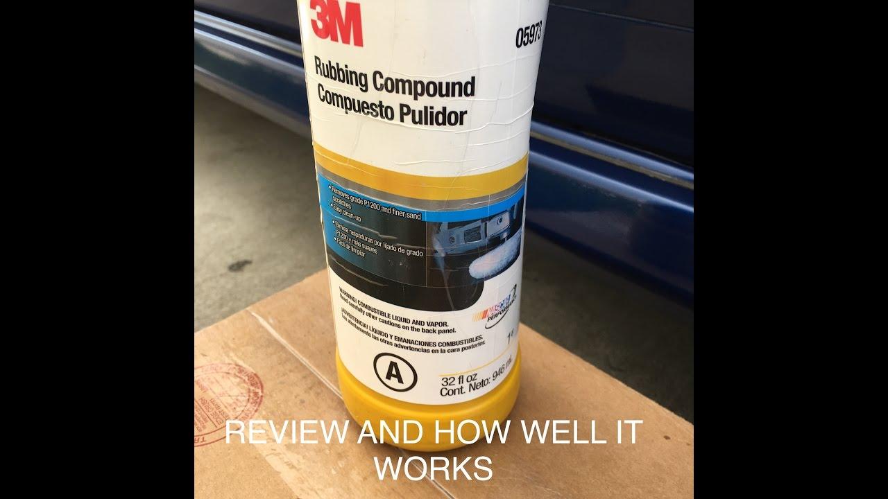 3M Rubbing compound 05973 Review