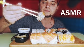 ASMR EATING SUSHI SET *NO TALKING* EATING SOUNDS Суши,роллы🥢🍣 Sushi rolls| 스시 롤