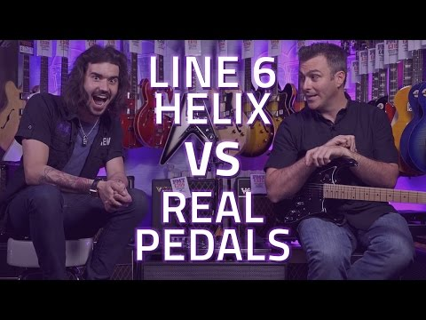 Line 6 Helix vs Real Pedals Demo