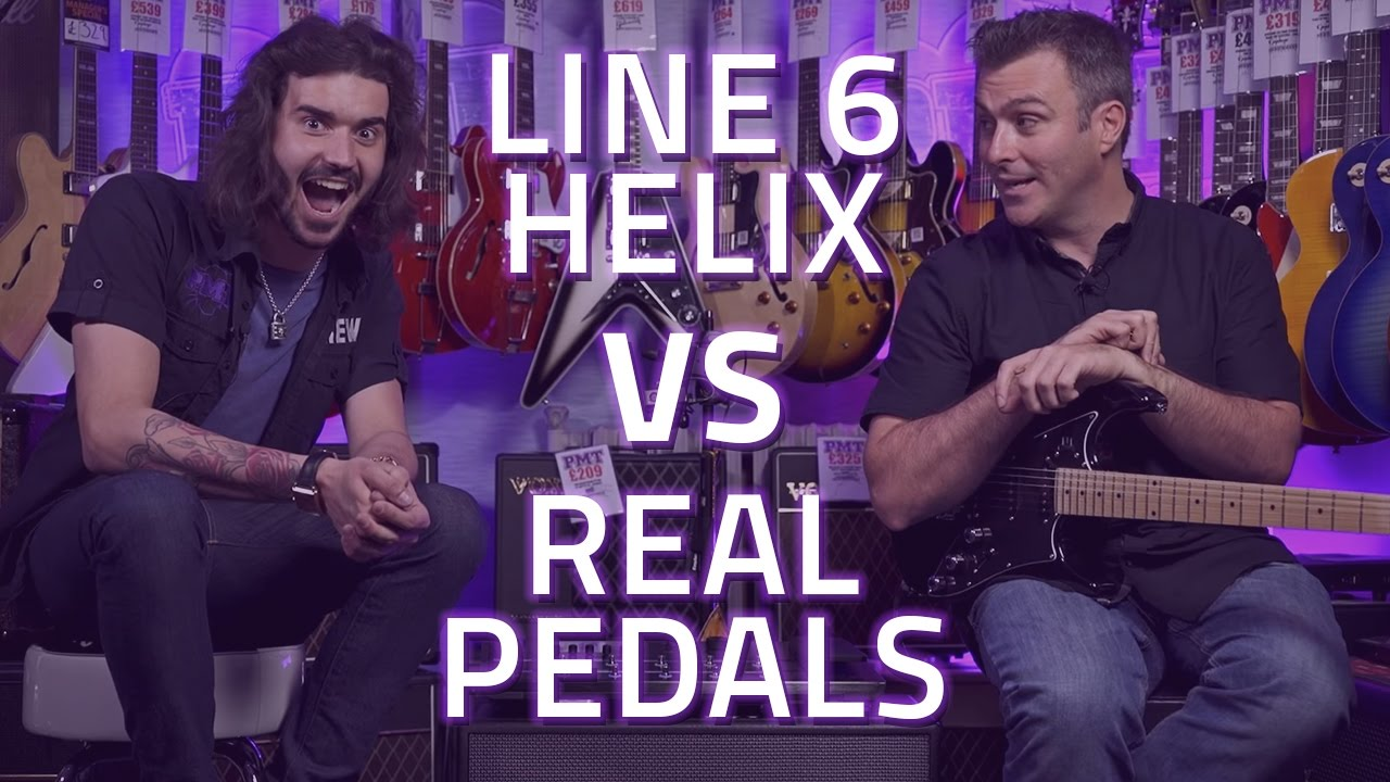 line 6 helix vs real guitar pedals demo youtube. Black Bedroom Furniture Sets. Home Design Ideas