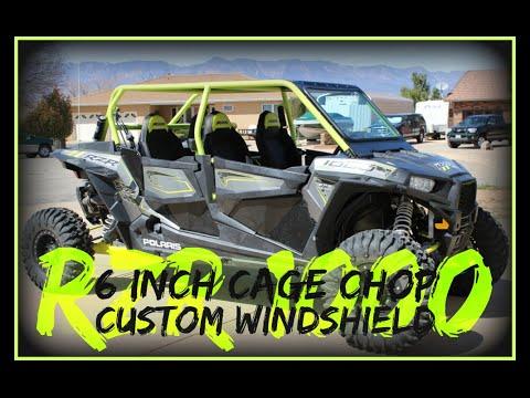 Polaris RZR 1000 Roll Cage Chop Custom Windshield Half Doors for 2016 4 Seater