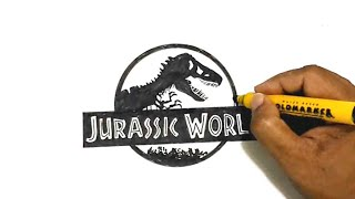 How to Draw the Jurassic World Logo