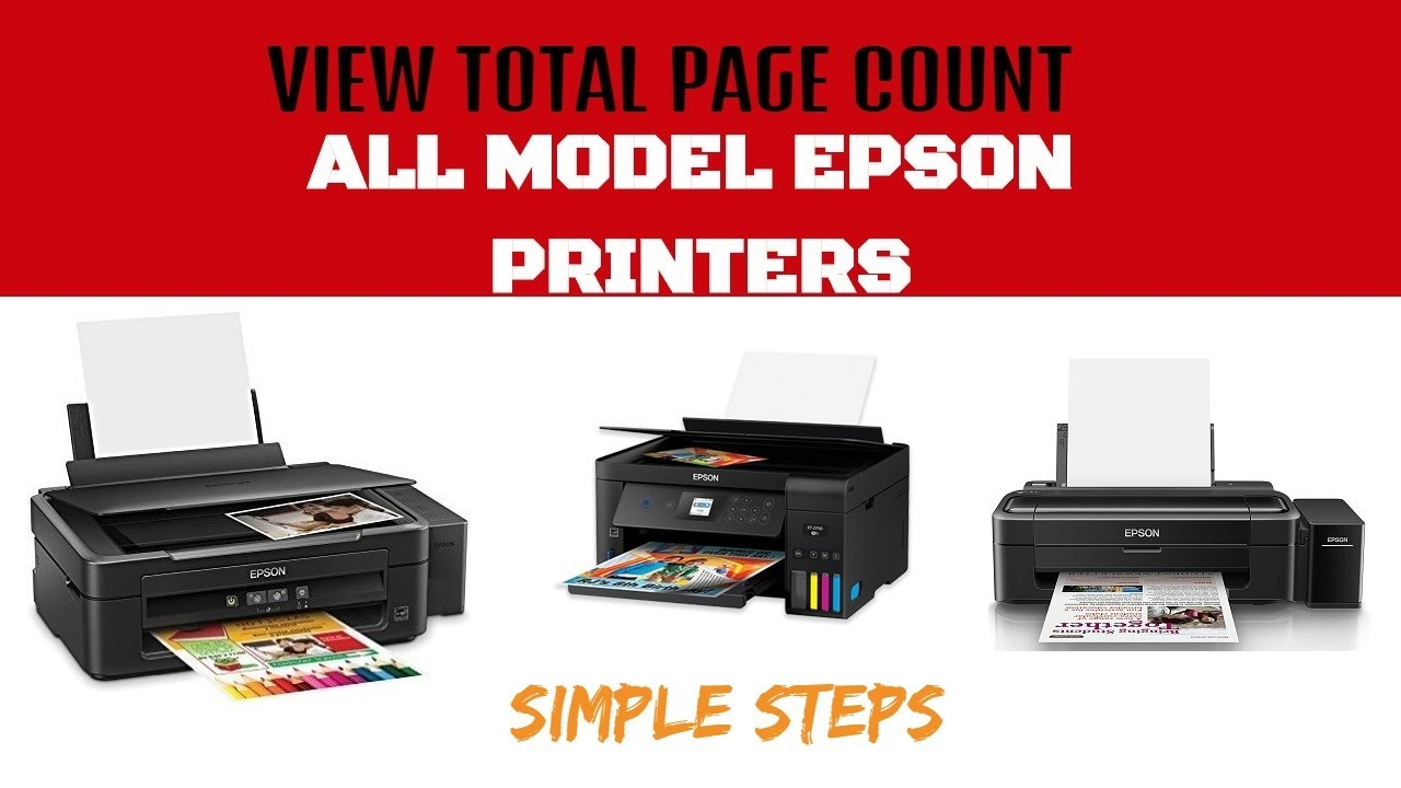 How To Check Total Page Count, Total Print Count in Epson