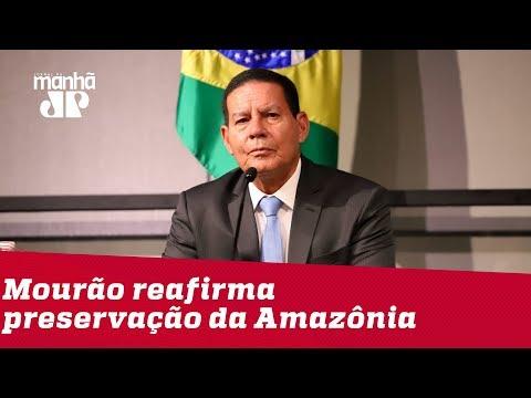 """Em encontro com empresários alemães, Mourão reafirma que """"Amazônia é brasileira"""""""