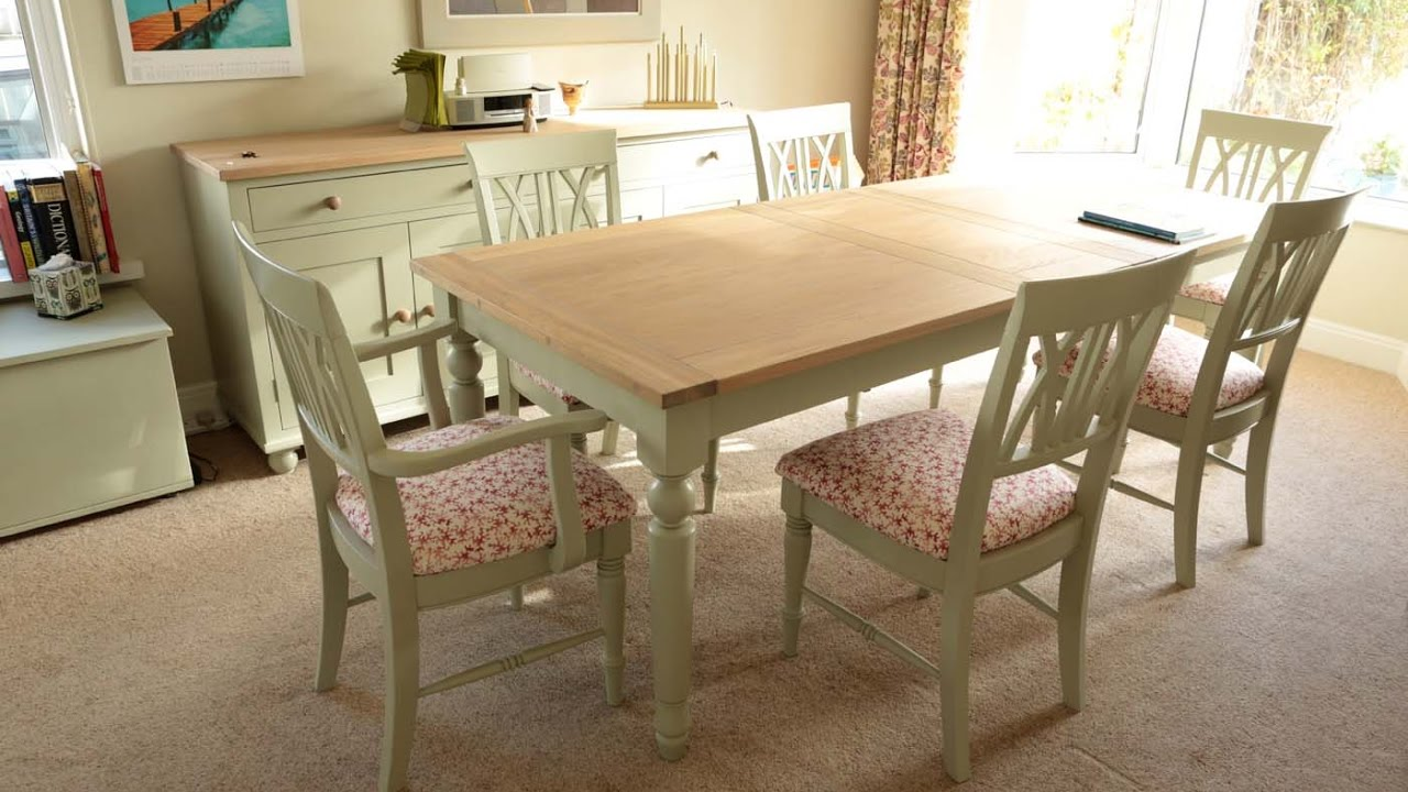 Kitchen Table With 4 Chairs Commercial Hood Cleaning Painting Pine Furniture Cream Ideas - Youtube