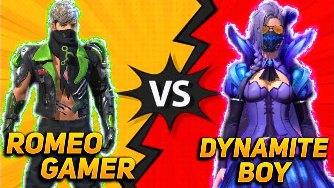 Best Versus Clash Squad Battle Romeo Gamer Vs Dynamite Boy- Must Watch Who Will Win🙂