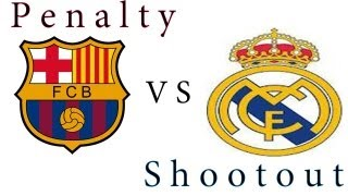 PES 2013 - Penalty shootout [Barcelona vs Real Madrid]