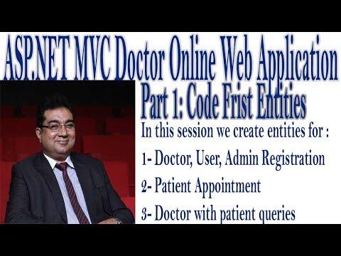 1- ASP.Net MVC Doctor's Online Web Application Using Code First Approach In Urdu/Hindi