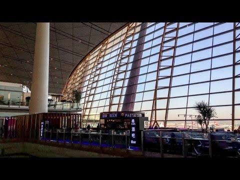 Inside the departures terminal at Beijing Capital International Airport (PEK) in Beijing, China