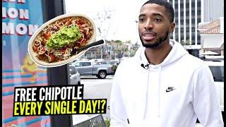 Phoenix Suns' Mikal Bridges Gets Free Chipotle EVERY SINGLE DAY!