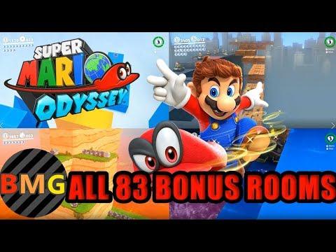 ALL 83 BONUS ROOMS (Sub-Areas) in Super Mario Odyssey! (Odyssey Guide)