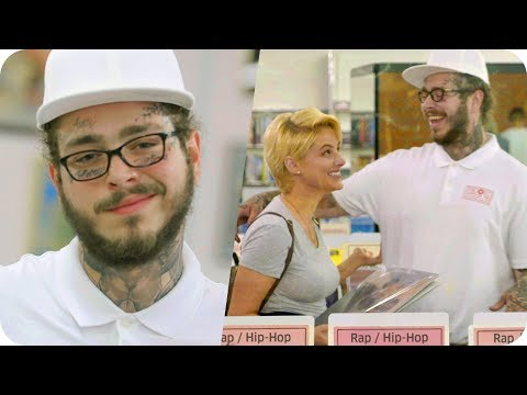 Post Malone Pranks People with Undercover Record Store Surpr