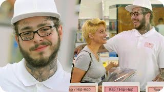 Post Malone Pranks People with Undercover Record Store Surprise // Omaze