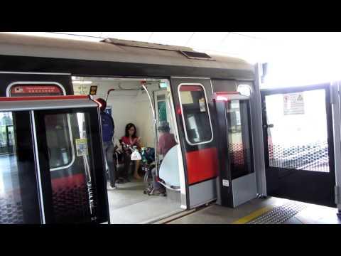 Reupload: SMRT North South Line -- Off-Peak Trains at NS9 Woodlands on 7 March 2013