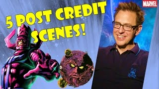 5 POST CREDIT SCENES! [Guardians of the Galaxy Vol. 2]