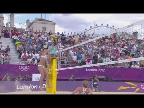 Women's Beach Volleyball Preliminary Round - CZE v AUT   London 2012 Olympics