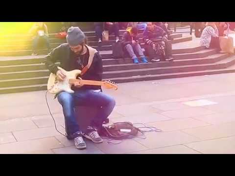 Blues Guitar Player playing live music Amazing Street ... - photo#25