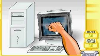 PC zerstören auf Spielaffe