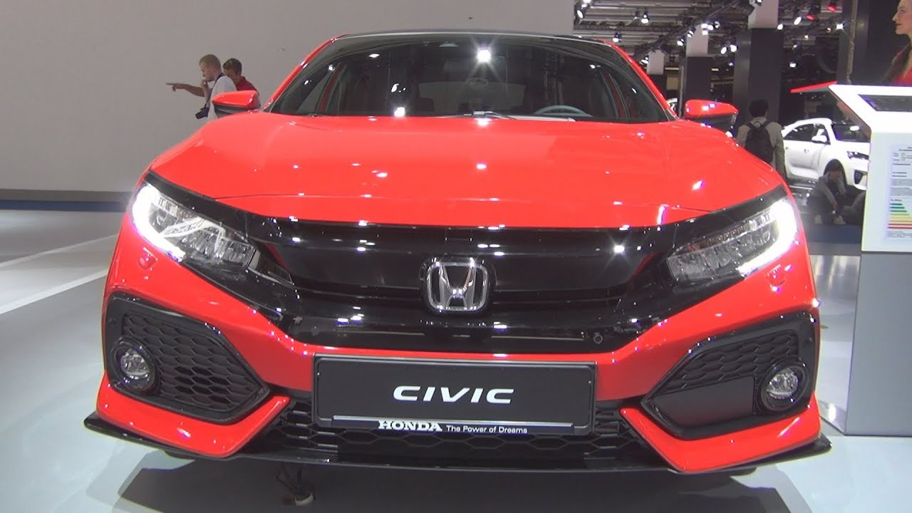 honda civic 1 5 vtec turbo sport plus 2018 exterior and. Black Bedroom Furniture Sets. Home Design Ideas