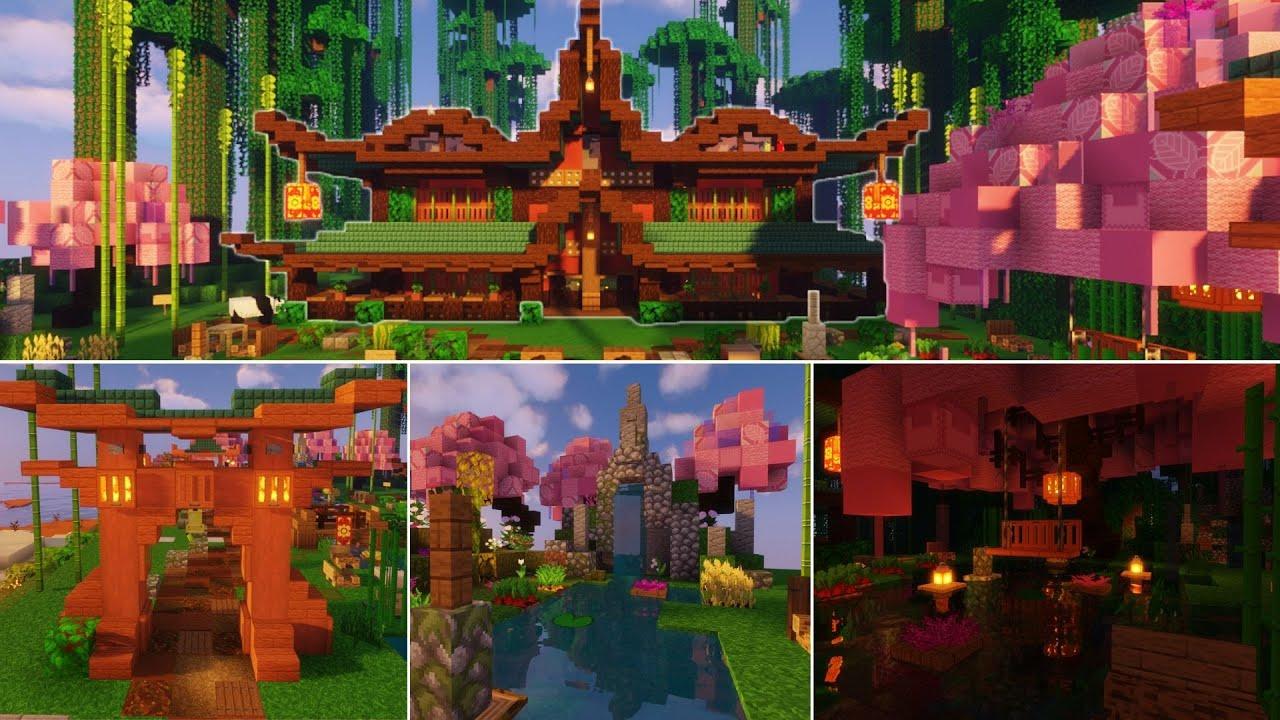 Minecraft: Japanese Garden Design Ideas - YouTube