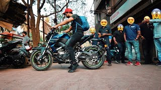 BUYING FIRST 2019 YAMAHA MT15 IN INDIA ??  WALKAROUND | EXHAUST NOTE