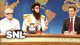 Weekend Update: Admiral General Aladeen - Saturday Night Live