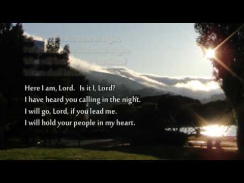 "♥ ""Here I Am, Lord"" with lyrics (very solemn hymn)"