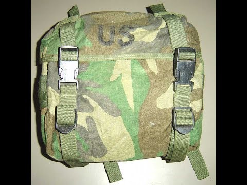 How To Attach The Woodland Camo 3 Day Field Training Pack To The LBV IIFS