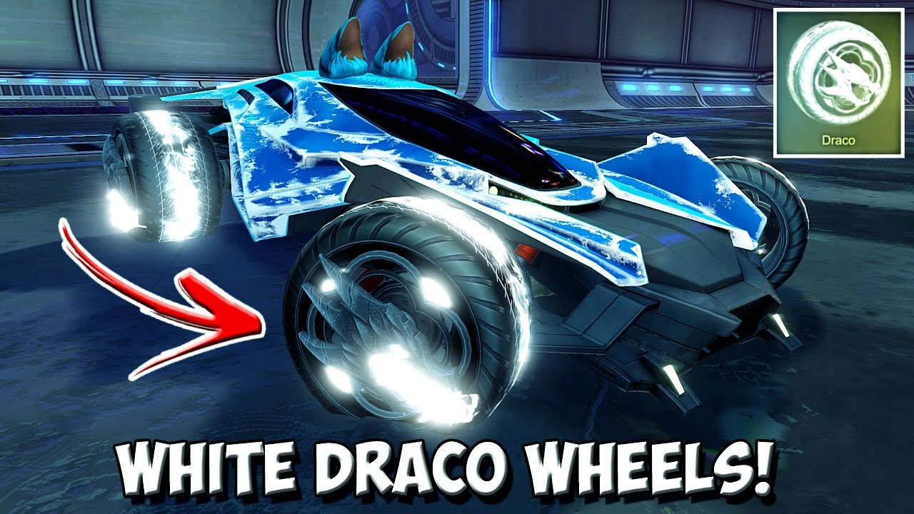 a9601a39fd8 *OMG* TITANIUM WHITE PAINTED DRACO WHEELS! | Rocket League's BEST Looking  Wheels Of All Time?!