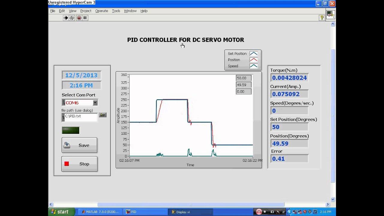 Arduino pid servo motor control for Pid motor speed control