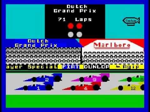 Formula One Walkthrough, ZX Spectrum