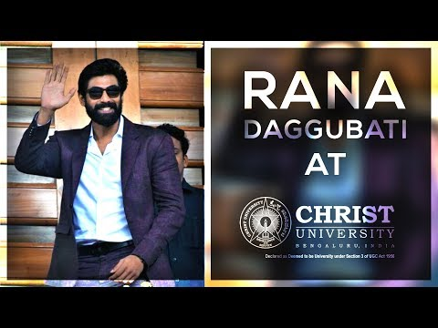 Rana Daggubati at Christ University, Bangalore - Full Video (Full HD)