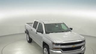 182751 - New, 2018, Chevrolet Silverado, 1500, Custom, Crew Cab, Silver, Review, For Sale -