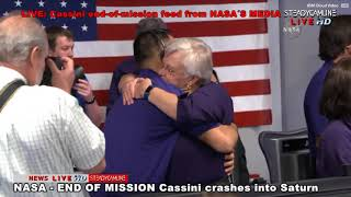 Part of the live coverage to see the Cassini spacecraft crash into Saturn