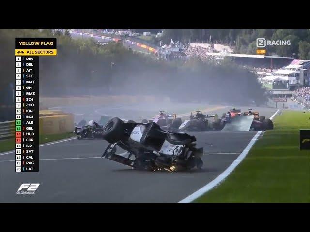 Смертельная авария в Формуле-2 (Антуан Юбер, Спа - Бельгия / Anthoine Hubert / Crash at Spa))
