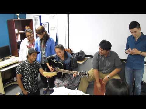 Eton College Students serenade the graduating class