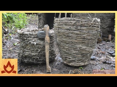 Primitive Technology: Baskets and stone hatchet