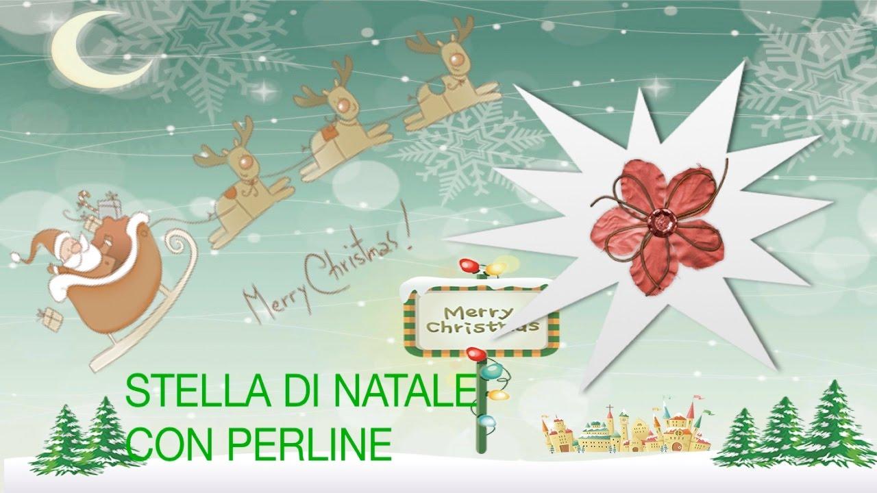 Stella Di Natale Con Perline.Stella Di Natale Con Le Perline