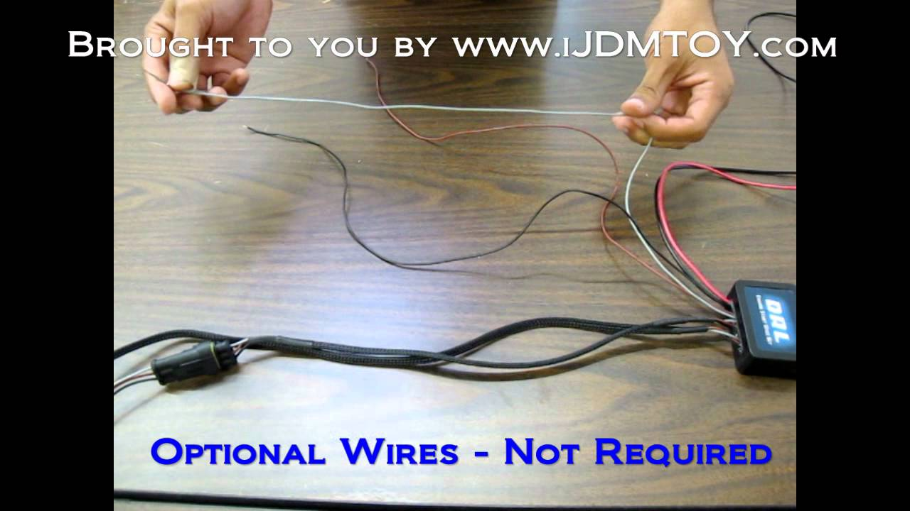 Diy Guide Ijdmtoy Daytime Running Lights Drl Switch Youtube 2 Wire Start Stop Diagram Wiring Schematic