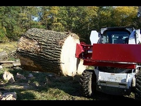 John Deere Skid Steer >> Skid Loader Log Splitter 888-706-2434 - YouTube