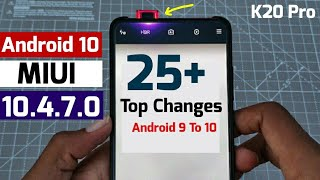 Redmi k20 pro android 10 Top 25+ Changes \ Amazing  Features