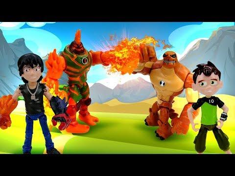 Видео про игрушки из мультфильмов. Бен Тен и его Новые трансформации